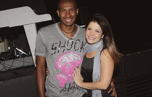 Samara Felippo and Leandro Barbosa