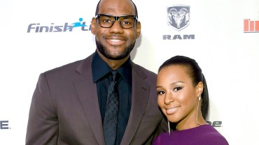 Savannah Brinson and Lebron James